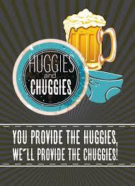 Mens Baby Shower Huggies And Chuggies Baby Shower Invitation