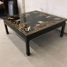 Painted Coffee Table Vintage Asian Style Black Painted Coffee Table Chairish