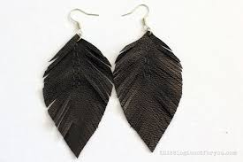 how to make feather earrings with diy leather feather earrings this is not for you