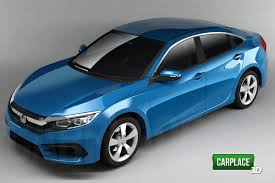 2016 honda civic rendered from all angles u2013 report best cars