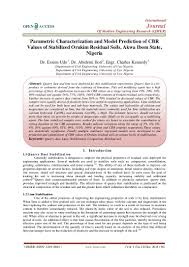 models of cbr parametric characterization and model prediction of cbr values of sta u2026