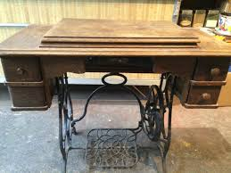 fold away sewing machine table brunswick folding sewing table for sale antiques com classifieds