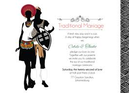 Wedding Ceremony Invitation Card Zulu Wedding Downloadable South African Zulu Traditional Wedding