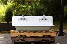 cast iron trough sink amazon com refinished 48 antique trough sink double faucet cast