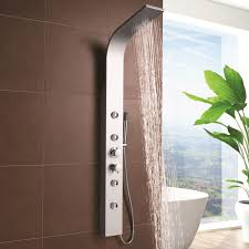 creative bathroom shower tower concept of inspiring shower tower