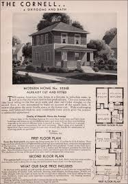 sears homes floor plans sears kit homes 1936 cornell american foursquare house plan