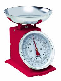 Vintage Kitchen Scales Hansonh500 Cream 5kg Capacity Traditional Mechanical Kitchen Scale