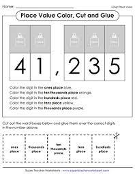 value of a digit worksheet place value worksheets 5 digit numbers