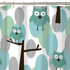 bathroom exciting decorative shower curtains with owl bathroom