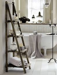 chic bathroom ideas shabby chic bathroom with ladder for storage pinteres