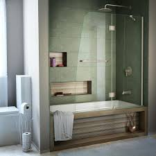 shop bathtub doors at lowes com dreamline aqua 48 in w x 58 in h bathtub door