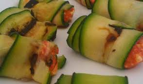 cuisine courgette courgette rolls stuffed with feta peppers