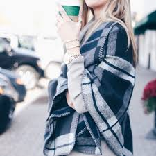cozy plaid poncho with suede over the knee boots pinteresting plans