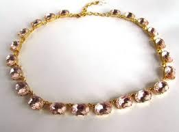light pink necklace images Blush pink statement necklace georgian collet necklace pink pas jpg