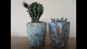 concrete handmade flower pots planter for your succulent cactus