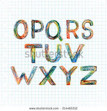 crayon letters stock images royalty free images u0026 vectors