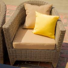 Deep Seating Wicker Patio Furniture - st martin 9 piece resin wicker patio seating set by lakeview