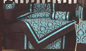 Green And Brown Crib Bedding by Turquoise And Brown Bella Baby Bedding 9 Pc Crib Set Only 69 99