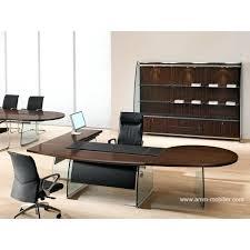 table ronde de bureau table ronde de bureau bureau de direction flute finition ebene