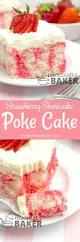 strawberry shortcake poke cake the midnight baker