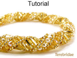 bracelet gold patterns images Beading pattern tutorial bracelet necklace russian spiral stitch JPG