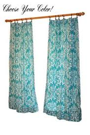Teal Damask Curtains Bright Pink Floral Curtains Modern Curtain Panels Mod Window