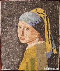 girl with pearl earring painting mosaic portrait of girl with a pearl earring who s that girl