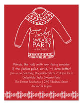 sweater invitations