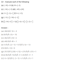 maths integers worksheets for grade 6 u0026 all operations with
