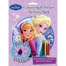 disney frozen colouring sticker activity pack book