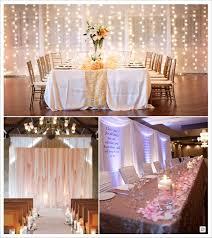 decoration salle de mariage decoration salle mariage cacher un mur rideau lumineux voilage