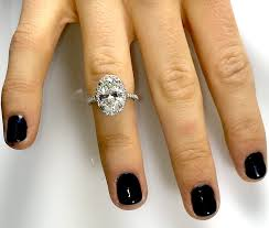 oval engagement ring with halo 3 ct oval cut halo engagement ring in micro pave band