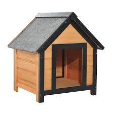 cuccia per cani da esterno tutte le offerte cascare a pawhut cuccia per cani da esterno con tetto spiovente in legno di