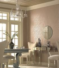 Textured Wallpaper Ceiling by Hollywood Regency Dining Room Colored Textured Wall White