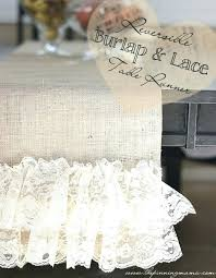 Burlap Lace Table Runner Austin Horn Embellished Table Runners Our Handcrafted Table Runner
