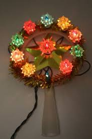 vintage tree light string multi colored bulbs and flower