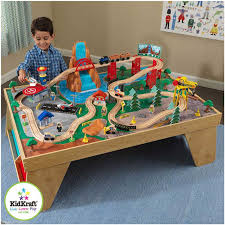 kidkraft train table set kidkraft waterfall junction train set and table learn play