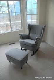 Chair With Ottoman Ikea Ikea Strandmon Wing Chair Furniture Wing Chair Yellow Ottoman Ikea