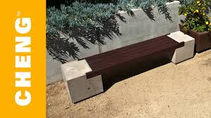 make a concrete and wood bench with cheng outdoor concrete mix and