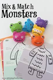 Cute Halloween Monster by Mix U0026 Match Monster Activity For Preschoolers