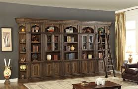 Bookcase With Ladder by Wall Units Astonishing Library Wall Units Outstanding Library