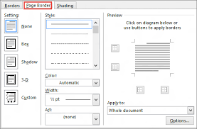design von powerpoint in word add change or delete borders from documents or pictures office