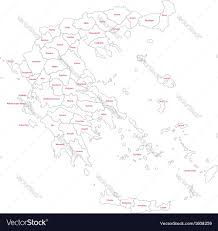 Greece Map Outline by Contour Greece Map Royalty Free Vector Image Vectorstock