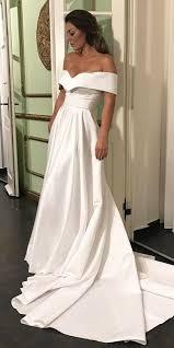 satin wedding dresses cheap wedding dresses 2017 the shoulder wedding