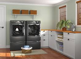 interior spectacular laundry room with charming lime green wall