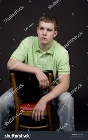 High Sitting Chair High Guy Sitting Chair Backwards Stock Photo 1587476