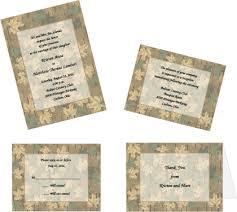 Camouflage Wedding Invitations Custom Printed Camouflage Wedding Invitations