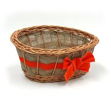 empty gift baskets empty wicker gift basket orange ribbon co uk kitchen home