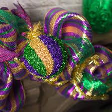 120mm tinsel swirl ornament mardi gras xj4308tc