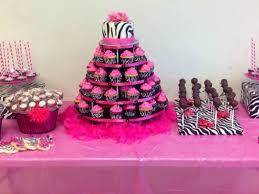 zebrahot pink baby shower dessert table cakecentral com